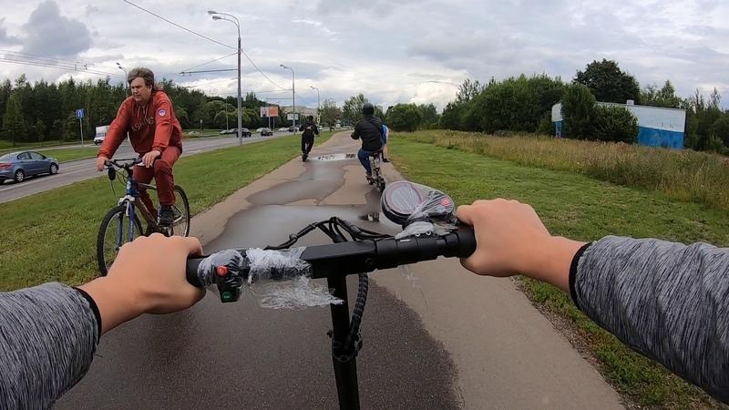 Максимальный пробег по Москве на одном заряде Kugoo M4 M5 и M5 lux