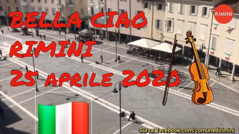 Bella Ciao al violino Rimini piazza Tre Martiri