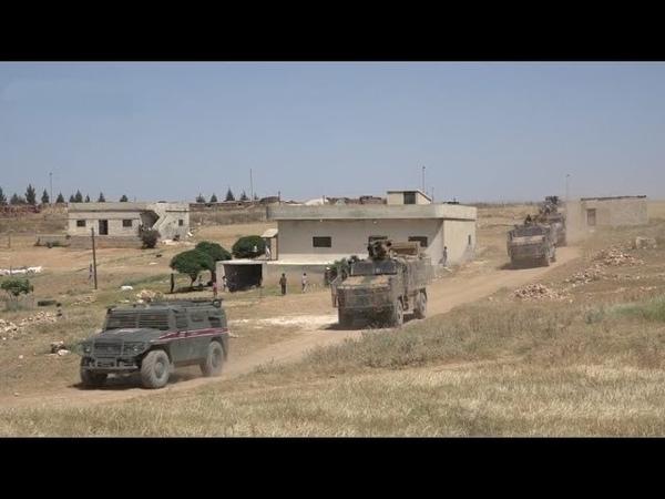 18th Russian Turkish joint patrol near Ayn al Arab May 21st 2020 Syria