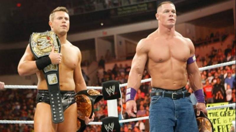 My1 John Cena The Miz win and lose the WWE Tag Team Championship Raw Feb 21 2011