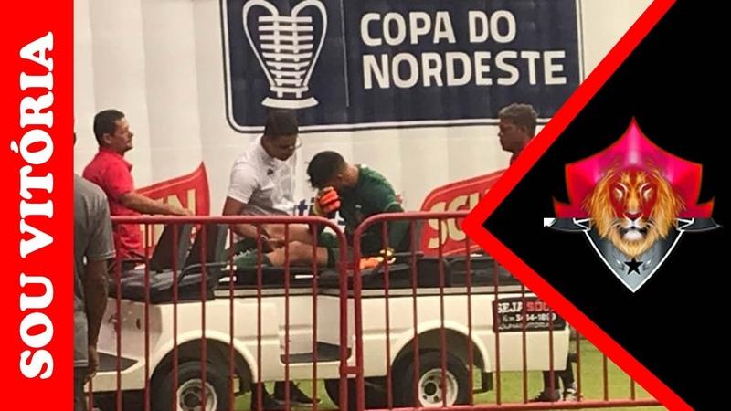Médico do Vitória indica que Martín Rodríguez sofreu ruptura do ligamento cruzado do joelho