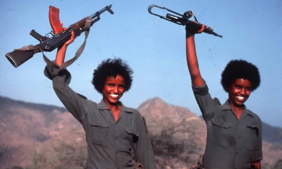 Среди эритрейских повстанцев было много женщин