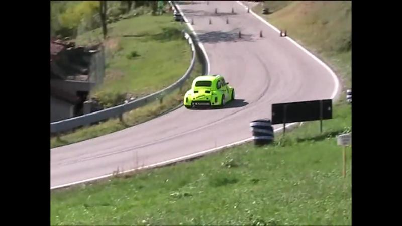 Fiat 500 Kawasaki fast hillclimb Race Car Proto zx12r P2 Prototipi 4° Slalom città di Bolca Salita