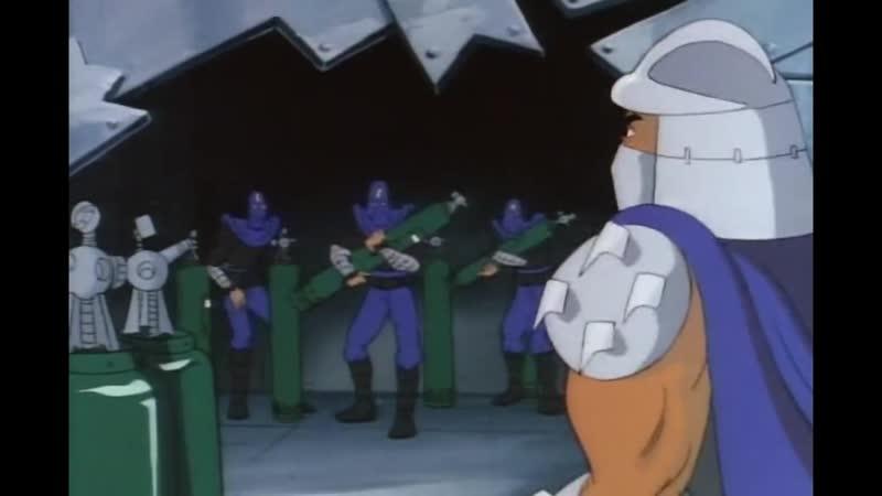 Черепашья пехота в атаку Shredder