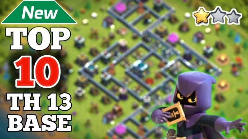 New Top 10 TOWN HALL 13 War Base Link | Base Link Given In Video Description