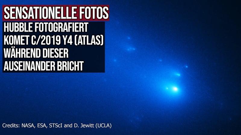 Sensationelle Fotos Das Hubble Teleskop fotografiert Komet C 2019 Y4 ATLAS