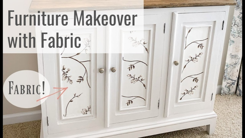 DIY Furniture Makeover How to Decoupage With Fabric