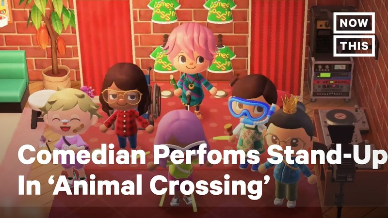 Comedian Performs Stand Up in 'Animal Crossing' During COVID 19