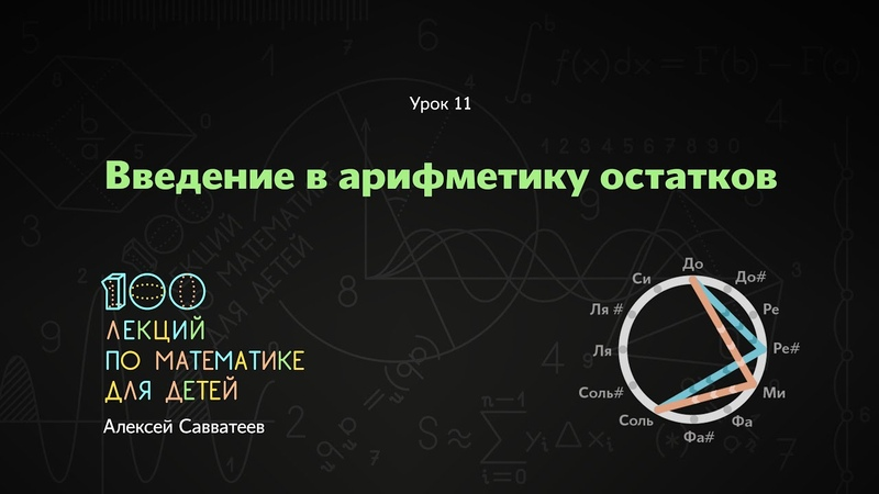 11 Введение в арифметику остатков Алексей Савватеев 100 уроков математики