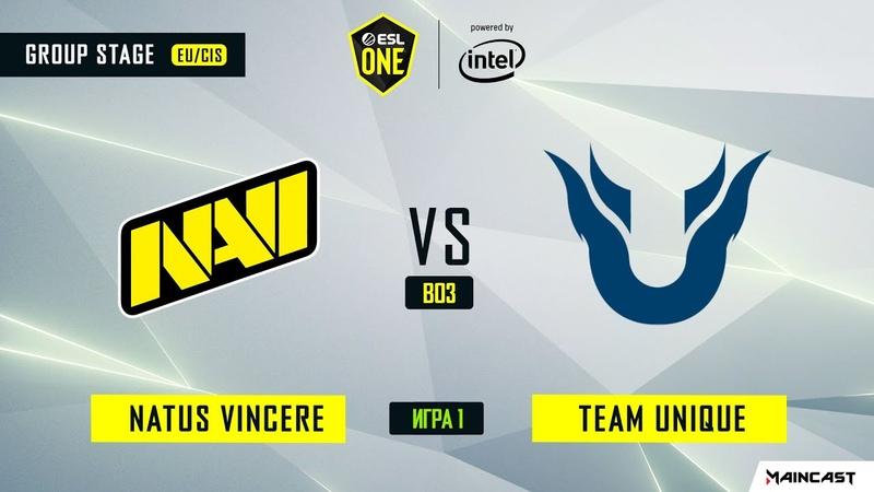 Natus Vincere vs Team Unique - Game 1, Group B - ESL One Los Angeles 2020 - Online Championship
