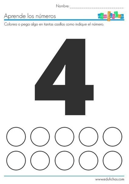 УЧИМСЯ СЧИТАТЬ Необходимо закрасить количество кружков, соответствующее цифре.