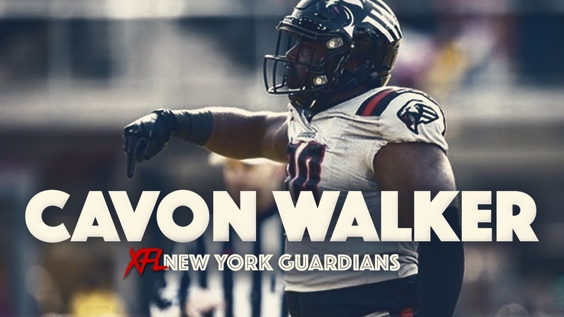 🔥XFL SACK LEADER 🔥 Cavon Walker New York Guardians Highlights