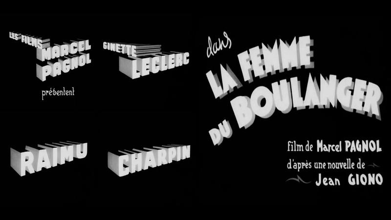 La Femme du boulanger 1938 avec Raimu Ginette Leclerc Charles Moulin Fernand Charpin