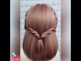 Новый мастер класс причёски для девочек.mp4