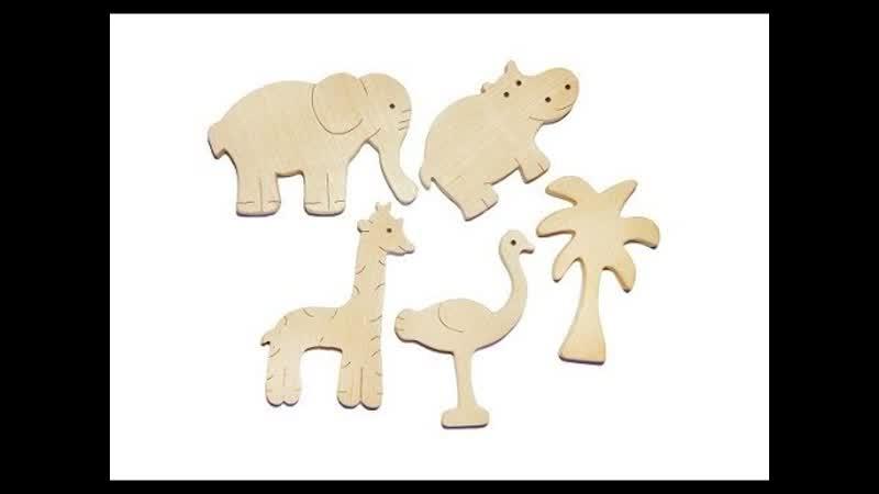 Набор деревянных фигурок Африка от компании Tree Tone