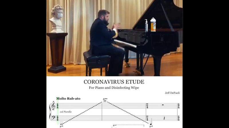 LIVE Concert CORONAVIRUS ETUDE For Piano and Disinfecting Wipe Jeff DePaoli