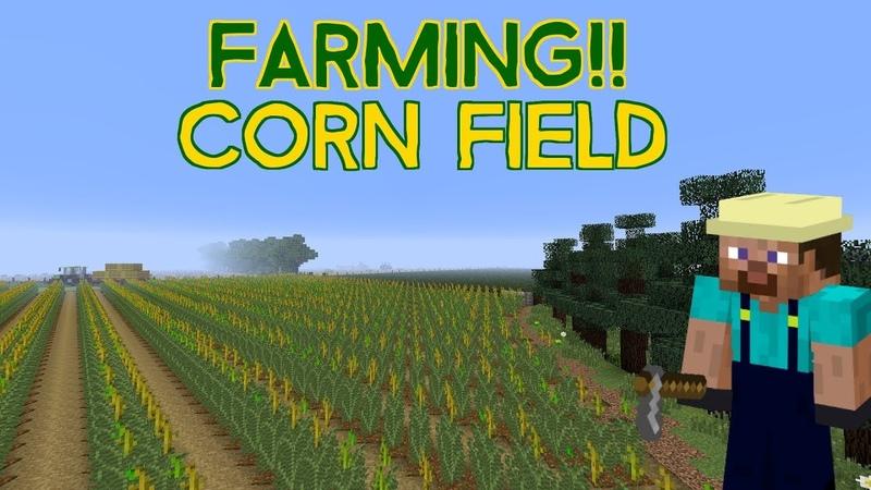 Minecraft Farming Corn Field Tutorial
