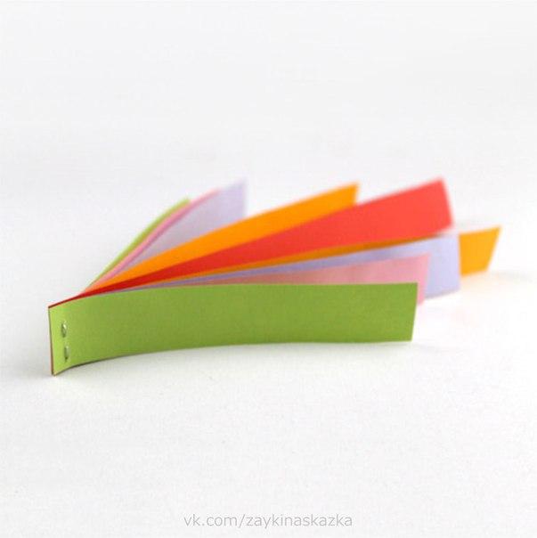СЕРДЕЧКИ ИЗ ПОЛОСОК БУМАГИ СердечкоВырежьте 10 полосок бумаги шириной 2 см и длиной: две 12 см, две 14 см, две 16 см, две 18,5 см, две 21 см. Сложите все полоски двусторонней лесенкой, самые
