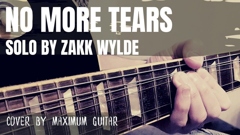No More Tears solo by Zakk Wylde Maximum Guitar cover