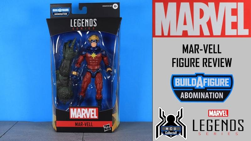 Marvel Legends MAR VELL Captain Marvel Avengers GamerVerse Abomination BAF Wave Figure Review