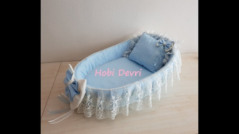 DIY Making Baby Basket Pillow and Bow Hasır Bebek Sepeti Süsleme Yastık ve Dolgulu Fiyonk Yapımı