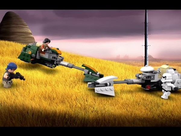 Ezra's Speeder Bike - LEGO Star Wars - 75090 - Product Animation