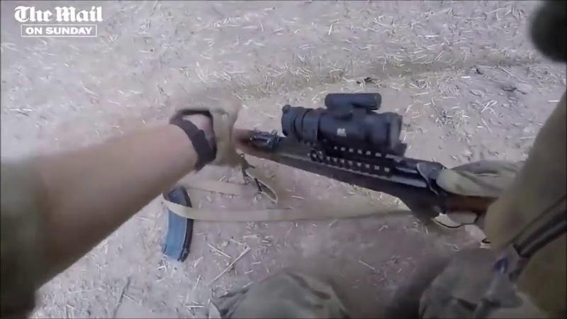 GoPro из Сирии У Британского бойца заклинило АК Разобрал за 30 секунд и починил ИГИЛ, война, ISIS