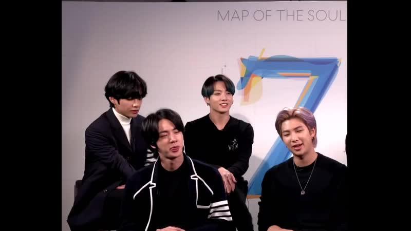 Клап Чонгук 22 02 2020 интервью с BTS для extratv