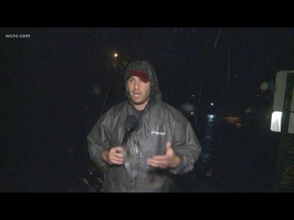 Rain still coming down in Fayetteville North Carolina