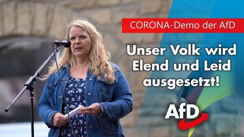 CORONA Demo Das ist unmenschlich AfD Politikerin mit eindringlichem Appell