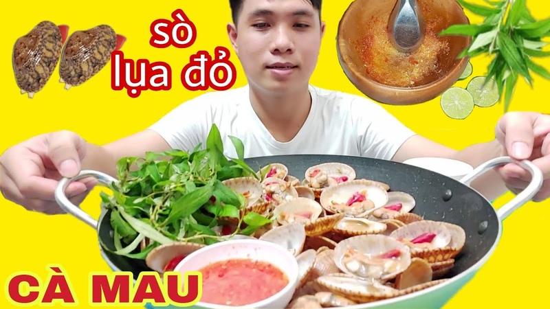 SÒ LỤA ĐỎ Rang Me Chấm Muối Ớt Chanh Cay Hải Sản Cà Mau Văn Cương Channel