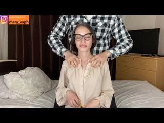 Массаж и большой член для сексуальной молодой мачехи - maryvincxxx [порно, секс