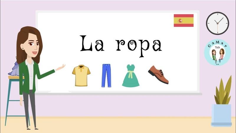 Ms G y Ms M se van de compras La ropa ¿Qué llevas puesto Clothes Spanish for kids