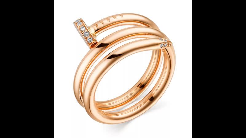 Кольцо из белого золота арт 12998 200 р 17 кольцо из красного золота арт 13637 100 р 18