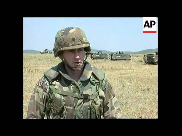 KOSOVO KFOR TROOPS DEPLOYMENT US SOLDIERS