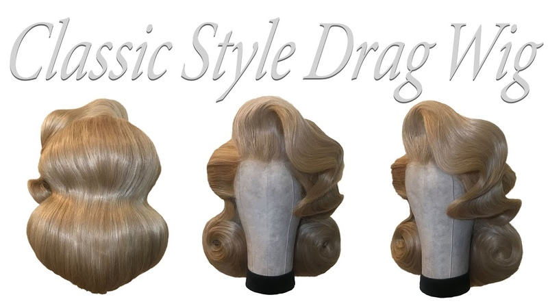 Classic Style Drag Queen Hair ! Wig Styling Tutorial.