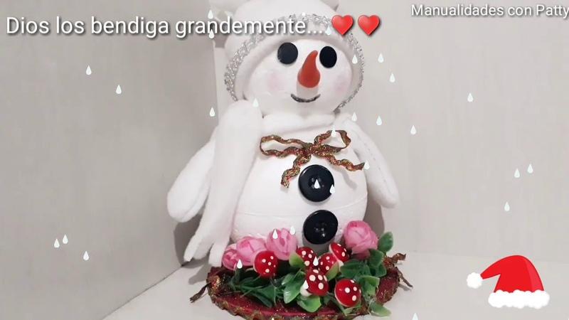 ☃️Muñeco navideño ☃️muy económico y fácil de hacer ❤️Sowman Boneca de natal DIY CRAFT