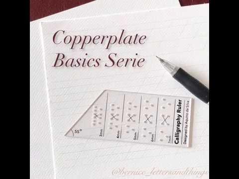 1. Copperplate Basics Serie - Basic strokes
