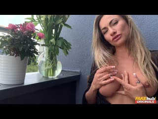 Michaela Isizzu - Masturbating on the Balcony