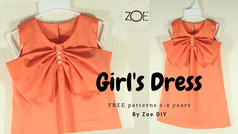 DIY Sewing Girl's Dress 3 8 years FREE Patterns Zoe DIY