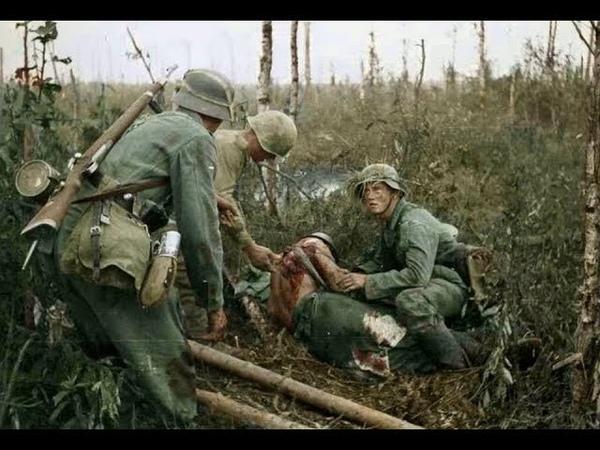 Кадры боёв второй мировой войны в цвете Battle frames of the Second World War in color