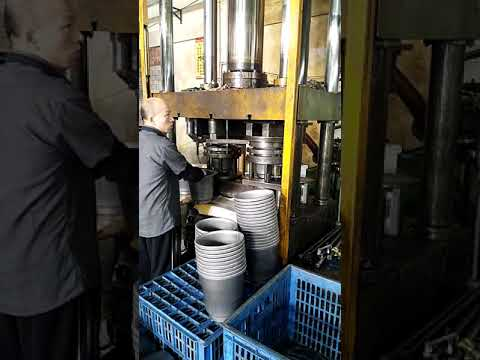 Video of YIHUI hydraulic press edge cutting and edge curling double