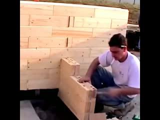 Как строят дом из деревянного кирпича rfr cnhjzn ljv bp lthtdzyyjuj rbhgbxf