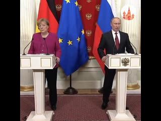 Владимир Путин встретился с Ангелой Меркель