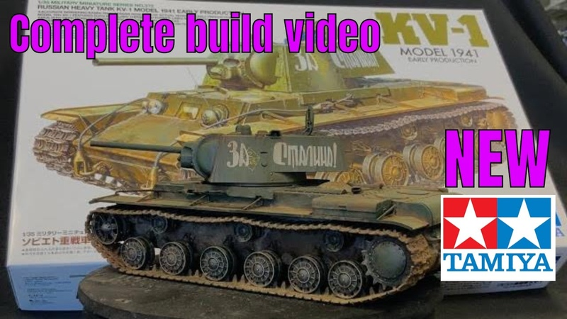 Tamiya 100% All New Tooled 1 35 KV 1 Russian Tank complete build painting and weathering