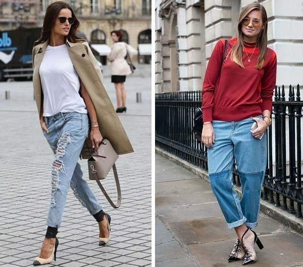 С чем носить джинсы бойфренд