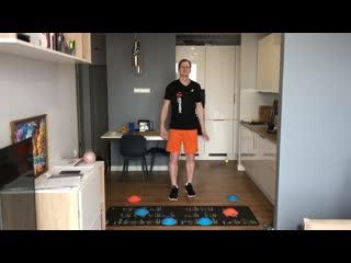 Круговая тренировка с акцентом на развитие координации движения, чувства равновесия и ловкости