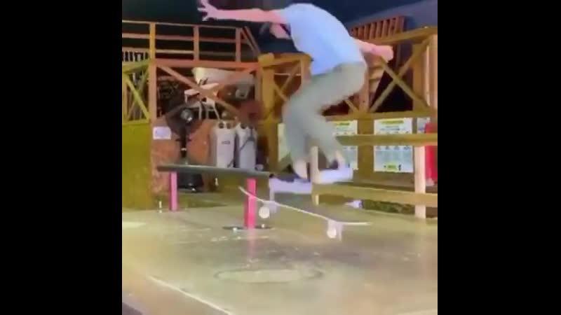 Berrics Kickflip front blunt tre flip out