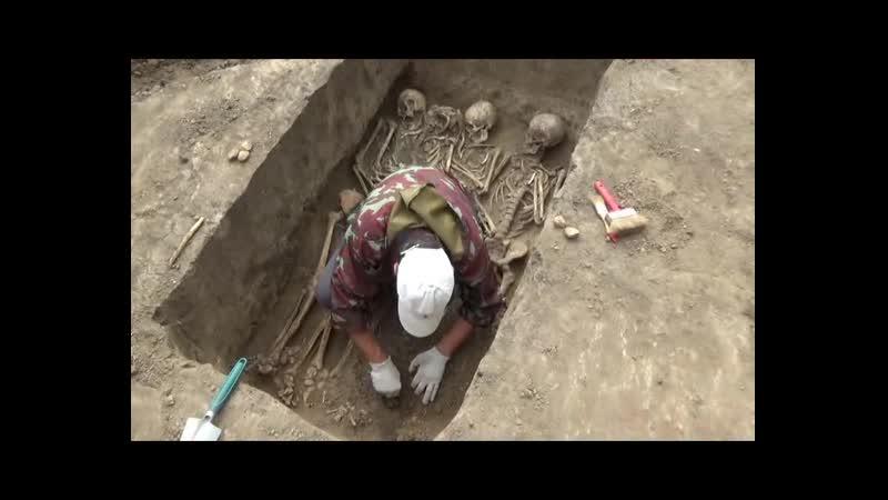 Братские могилы русских солдат 18 века на раскопе по улице Куйбышева