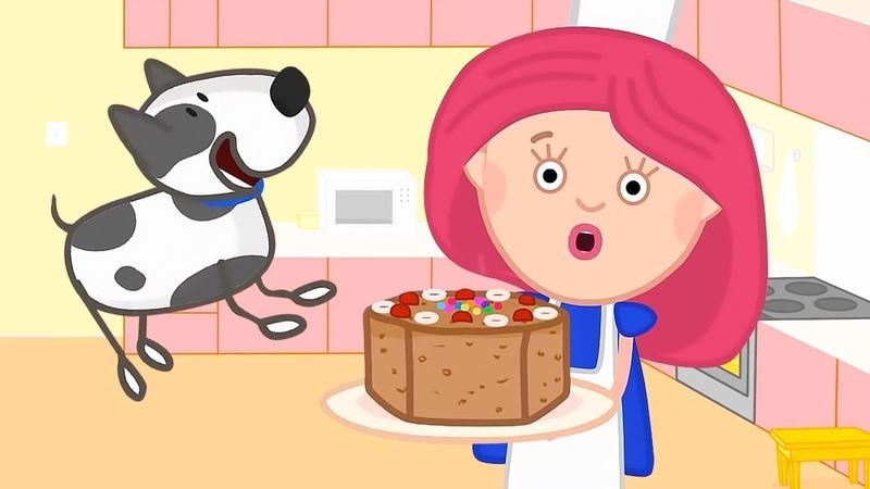 Un pastel de manzana para mamá Smarta y su bolso mágico Dibujos animado para niños